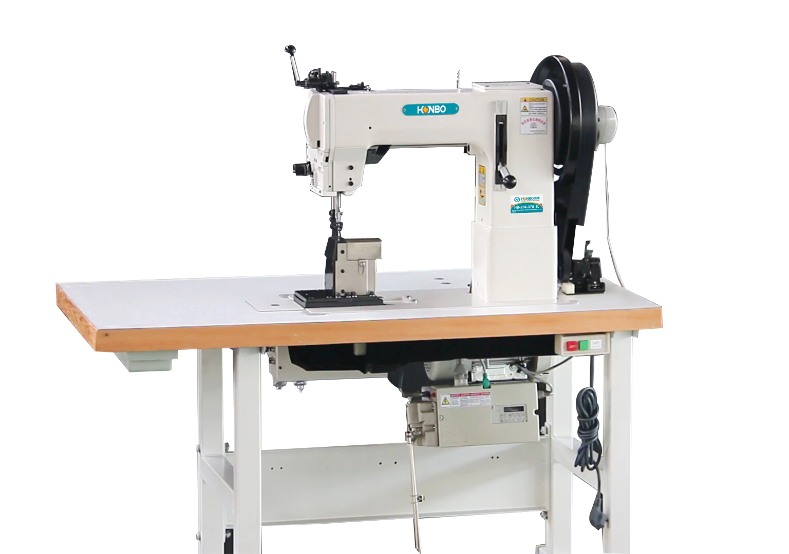 HB-204-370-1L Industrial Strong Feeding thick material Post bed Sewing Machine