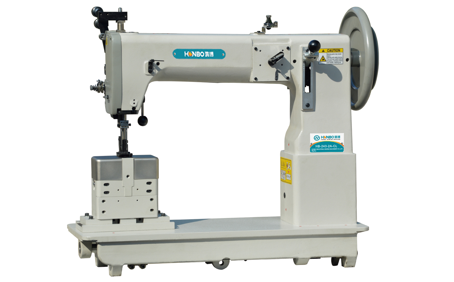 HB-243-2A-CL double-needle post-bed type sewing machine for extra-thick with comprehensive