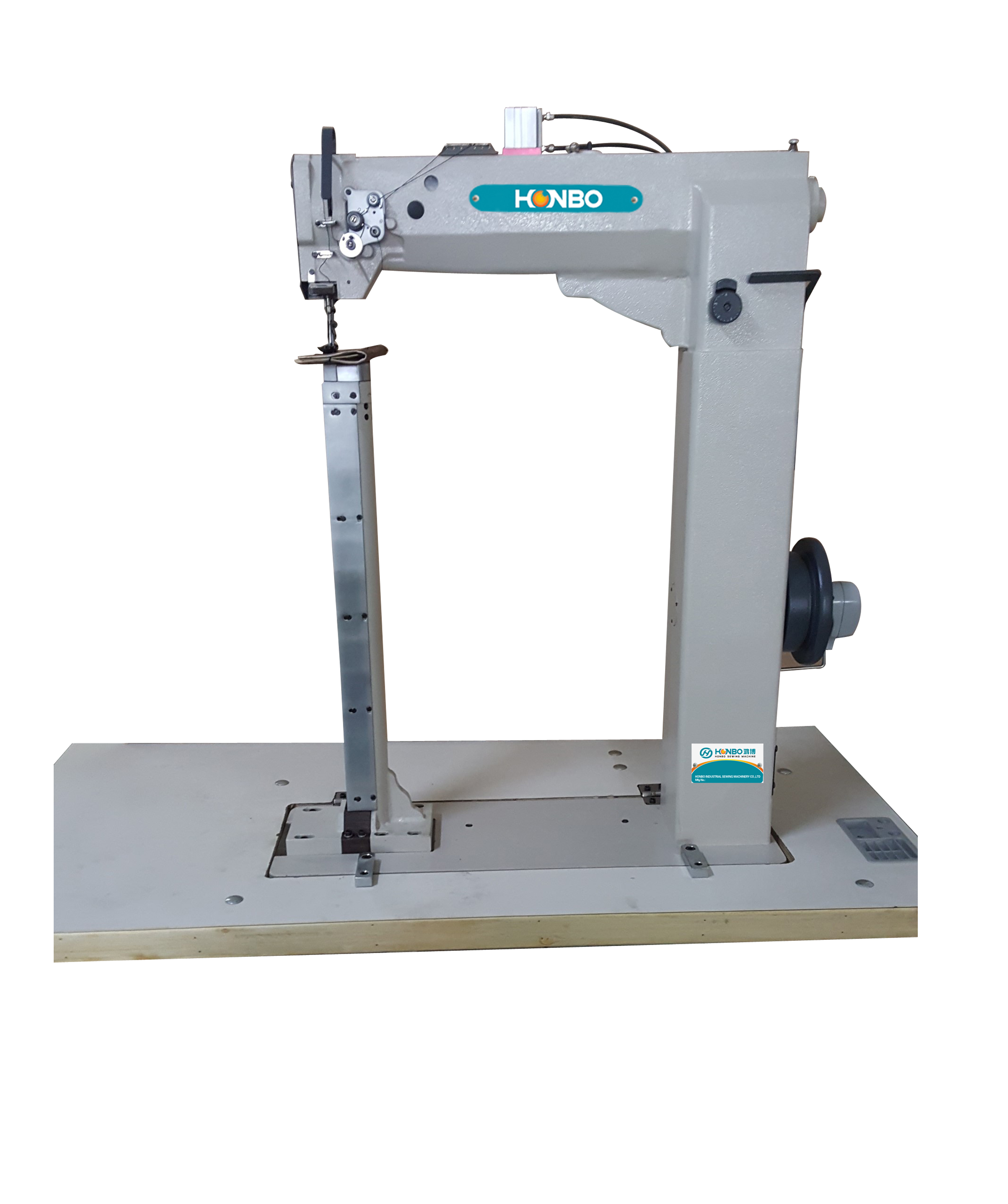 HB-8703F single needle unison feed industries prices post bed plastic luggage making leather shoe insole sewing machine