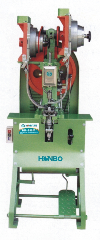 HB-989M automatic riveting machine(for D-RING eyelets)